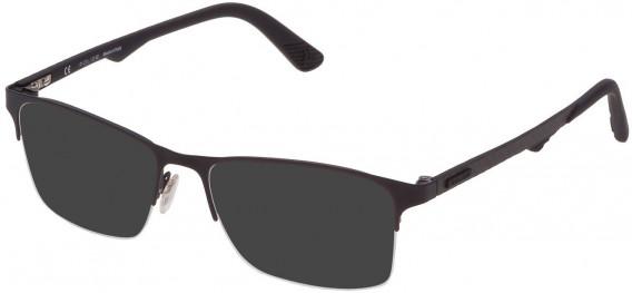 Police VPL693 sunglasses in Semi Matt Black