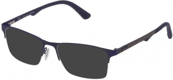 Police VPL693 sunglasses in Matt Blue