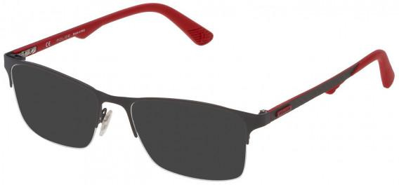 Police VPL693 sunglasses in Matt Full Gray