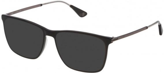 Police VPL689 sunglasses in Shiny Black