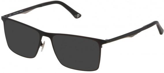 Police VPL685 sunglasses in Semi Matt Black