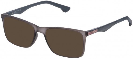 Police VPL638 sunglasses in Matt Transparent Grey