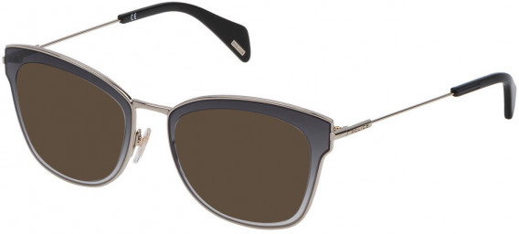 Police VPL632 sunglasses in Shiny Light Gold
