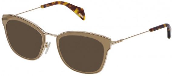 Police VPL632 sunglasses in Shiny Rose Gold