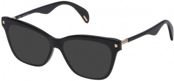 Police VPL627 sunglasses in Shiny Black
