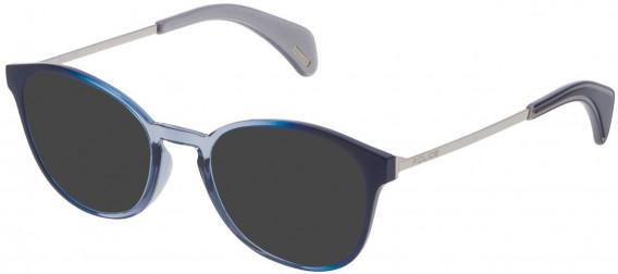 Police VPL626 sunglasses in Blue Gradient Azure