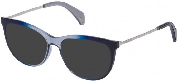 Police VPL625 sunglasses in Blue Gradient Azure
