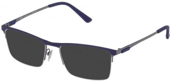 Police VPL564F sunglasses in Shiny Gun