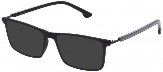 Police VPL559 sunglasses in Matt Black