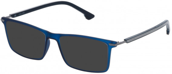 Police VPL559 sunglasses in Matt Opaline Blue