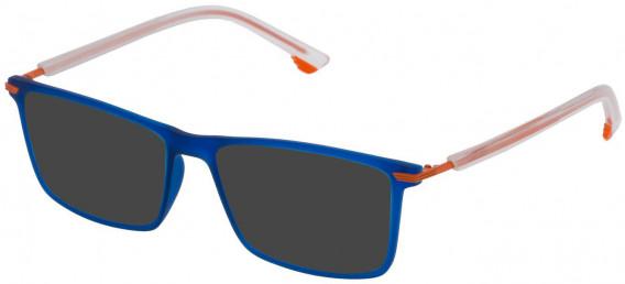 Police VPL559 sunglasses in Semi Matt Blue