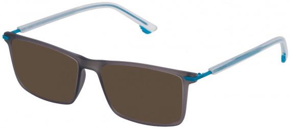 Police VPL559 sunglasses in Opal Light Grey