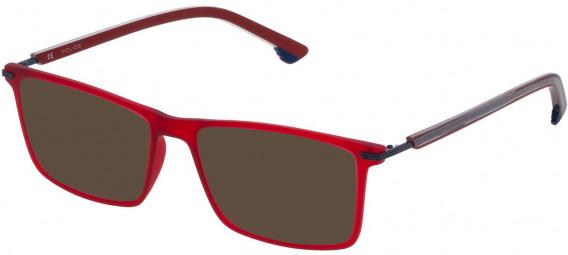 Police VPL559 sunglasses in Matt Transparent Red