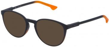 Police VPL557 sunglasses in Orange/Grey