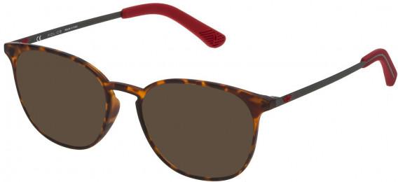 Police VPL554 sunglasses in Rubberized Havana
