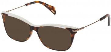 Police VPL506E sunglasses in Havana Brown