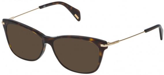 Police VPL506 sunglasses in Shiny Dark Havana