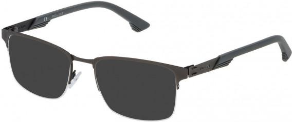 Police VPL481 sunglasses in Semi Matt Black/Semi Matt