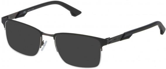 Police VPL481 sunglasses in Gun/Matt Black