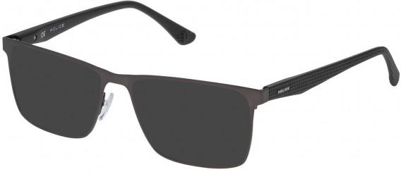 Police VPL475 sunglasses in Matt Gun Metal
