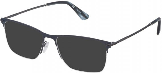 Police VPL472 sunglasses in Matt Gun/Blue