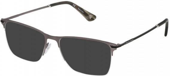 Police VPL472 sunglasses in Matt Gun Metal
