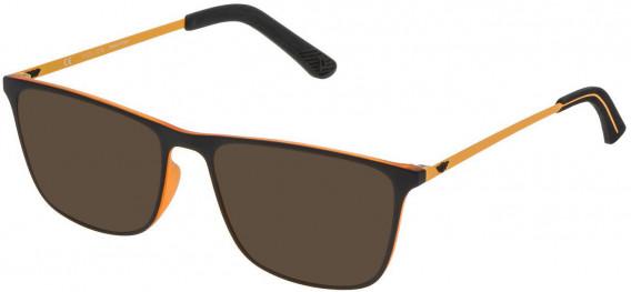 Police VPL471 sunglasses in Rubberized Orange/Rubberzed Black