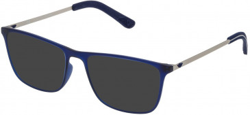 Police VPL471 sunglasses in Rubberized Blue