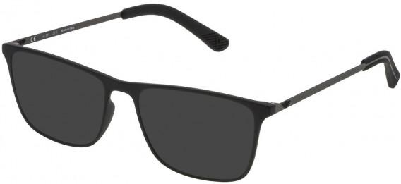 Police VPL471 sunglasses in Rubberized Black