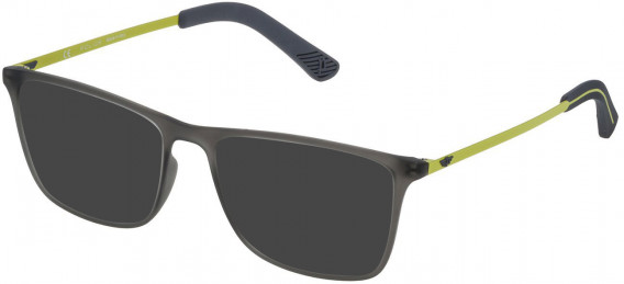 Police VPL471 sunglasses in Rubberized Opaline Grey