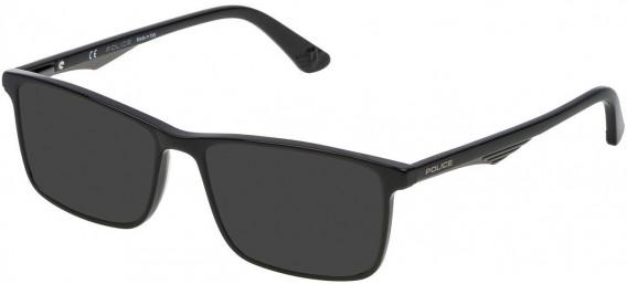 Police VPL467 sunglasses in Shiny Black