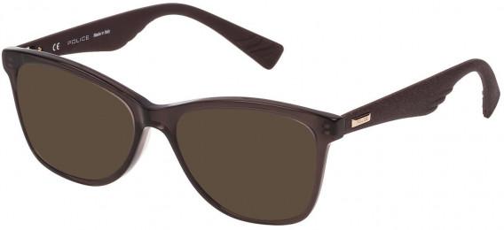 Police VPL414 sunglasses in Shiny Dark Brown