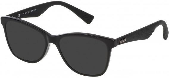 Police VPL414 sunglasses in Shiny Black