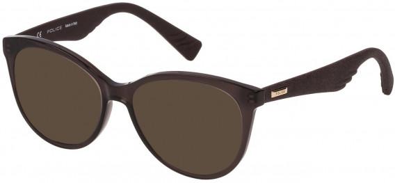 Police VPL413 sunglasses in Shiny Dark Brown