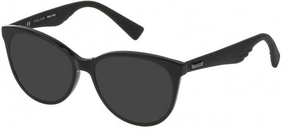 Police VPL413 sunglasses in Shiny Black