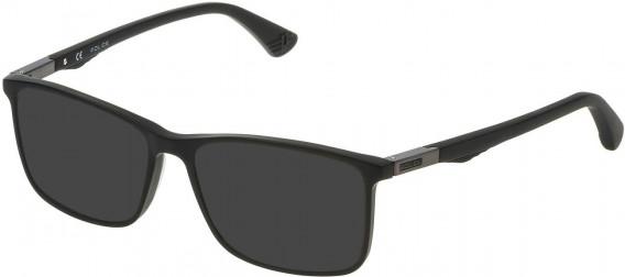 Police VPL393 sunglasses in Matt/Sandblasted Black