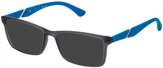 Police VPL389 sunglasses in Grey/Rubberizedized Paint