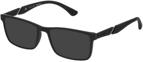 Police VPL389 sunglasses in Rubberized Black