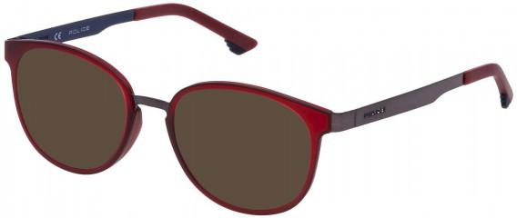 Police VK547 sunglasses in Shiny Gun/Shiny Blue