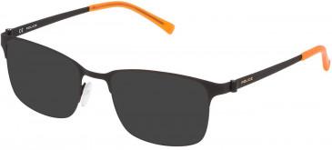 Police VK542 sunglasses in Rubberized Black