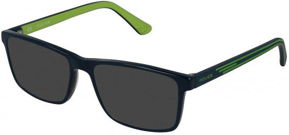 Police VK080 sunglasses in Shiny Full Petroleum