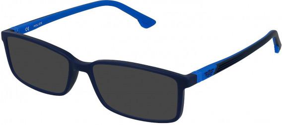 Police VK078 sunglasses in Matt Night Blue