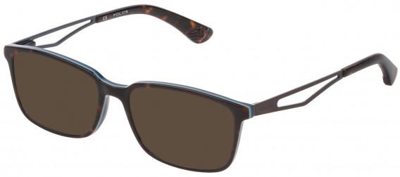 Police VK072 sunglasses in Shiny Havana/Opal Ice