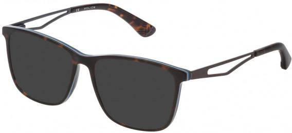 Police VK071 sunglasses in Shiny Havana/Opal Ice