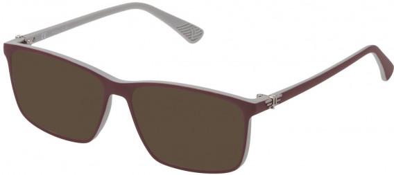 Police VK070 sunglasses in Bordeaux/White