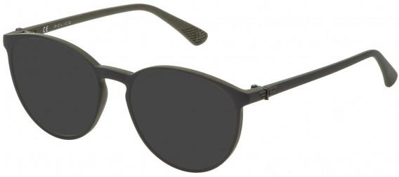 Police VK069 sunglasses in Matt Green