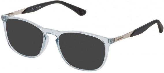 Police VK064 sunglasses in Shiny Crystal Azure