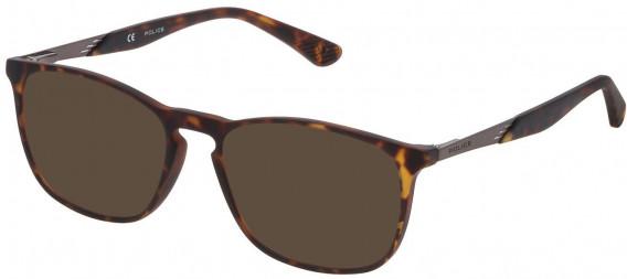 Police VK064 sunglasses in Matt Dark Havana