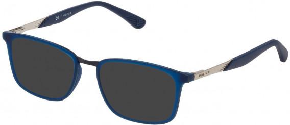 Police VK063 sunglasses in Matt Opaline Blue