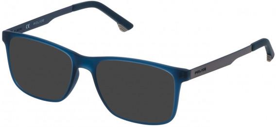 Police VK059 sunglasses in Matt Transparent Blue